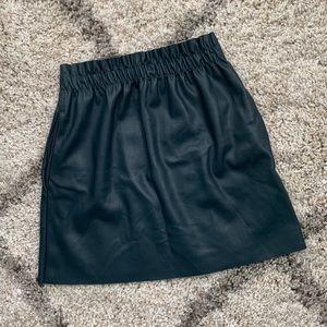 Zara faux leather skirt sz S